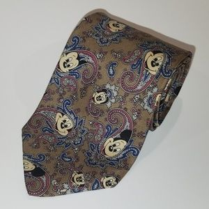 Other - Vintage Mickey Mouse Paisley Mens Tie